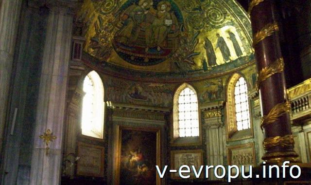 Мозаичный потолок апсиды базилики Санта Мария Маджоре