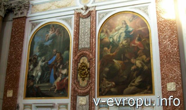 Декор церкви Санта Мария дельи Анджели э деи Мартири на площади Республики в Риме