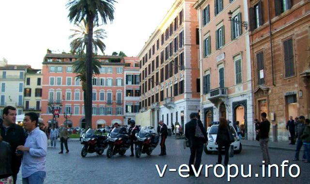 Рим. Северная часть площади Испании в Риме