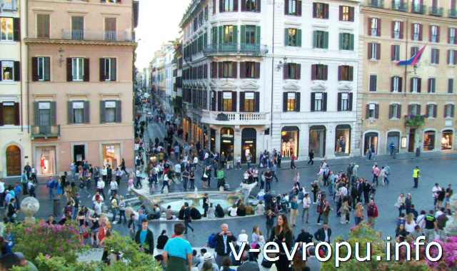 Рим. Площадь Испании