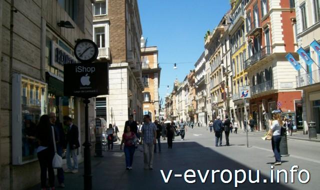 Шоппинг в Риме. Виа дель Корсо