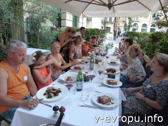 Живая встреча в Вероне 2013: общий ужин по-итальянски