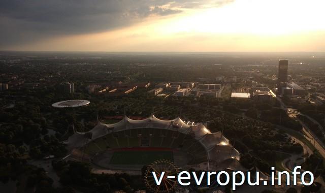 Мюнхен. Вид с Олимпия турм. По Европе за 2 недели с Интеррейл Пасс