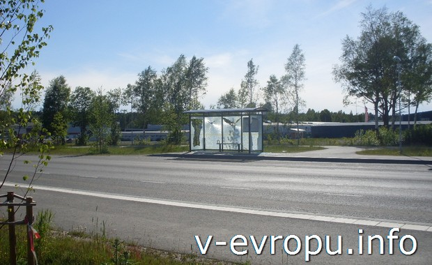 Дороги Швеции в окрестностях Умео.