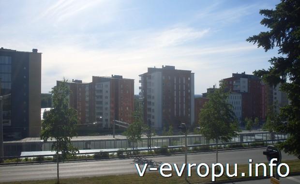 Городские пейзажи шведского городка Умеа