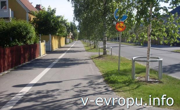 Велодорожки в шведском городке Умео