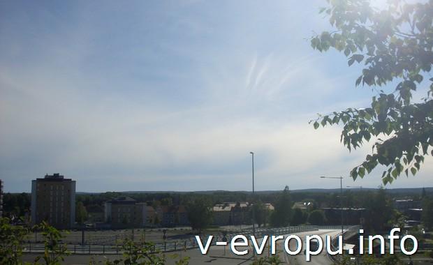 Шведское небо над Умео