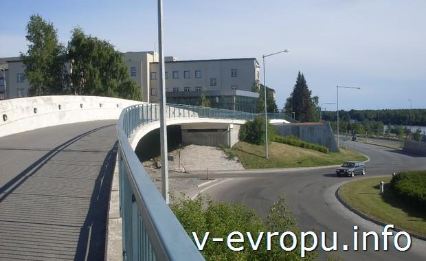 Швеция. Умео. Мост в Университет
