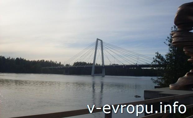 Велопутешествие по Швеции. Мост через реку Уме-Эльв