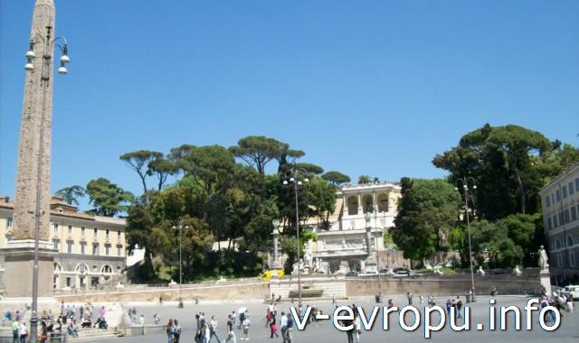 Площадь дель Пополо в Риме. Фото
