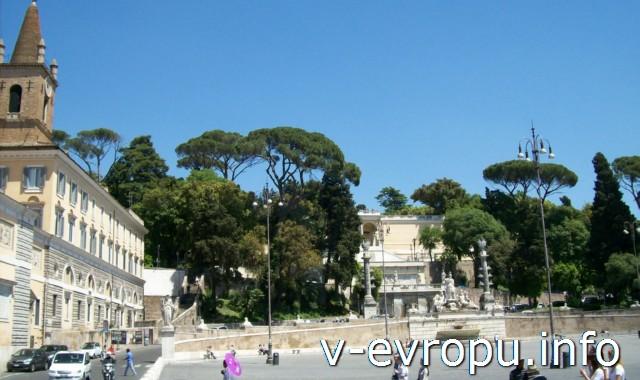 Площадь дель Пополо в Риме