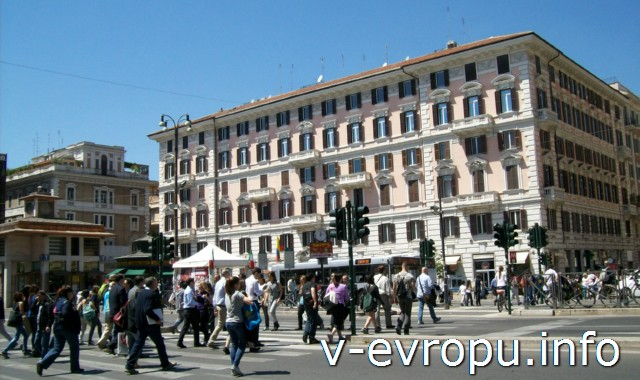 Рим. Площадь Фламиния - к северу от площади дель Пополо