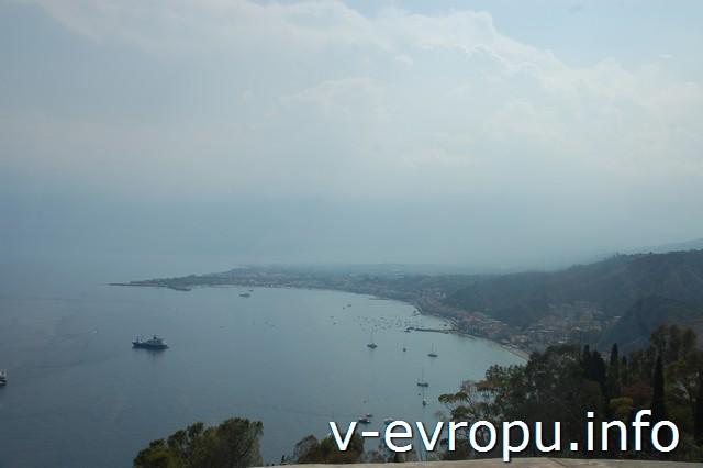 Побережье Сицилии. Смотровая по пути в Таормину