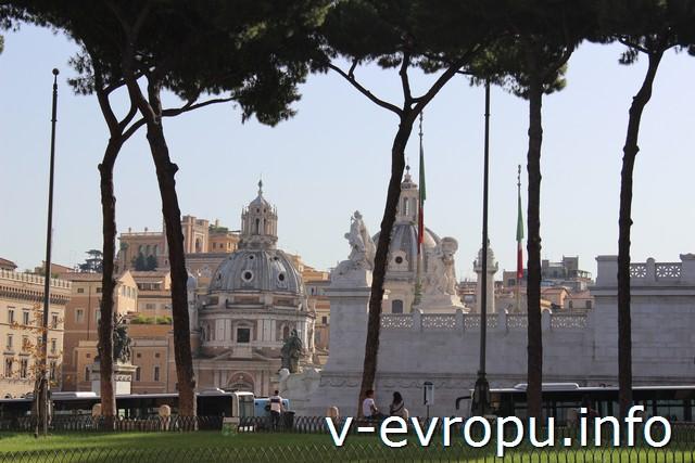 Поездка в Рим в августе. Пьяцца Венеция