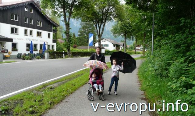 Июнь в Баварии бывает прохладный и дождливый