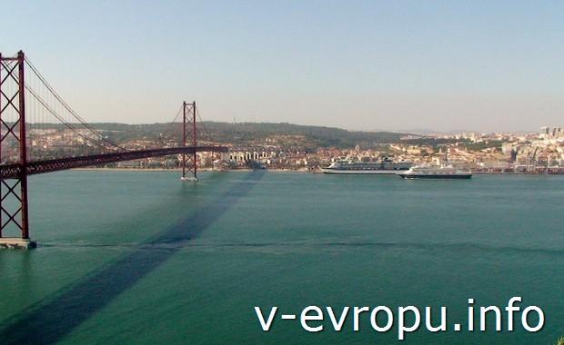 Лиссабон вид со стороны статуи Христа