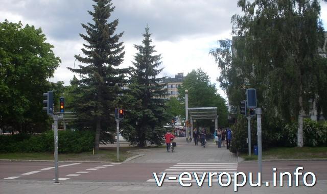 На велосипеде по шведскому городку Шеллефтео