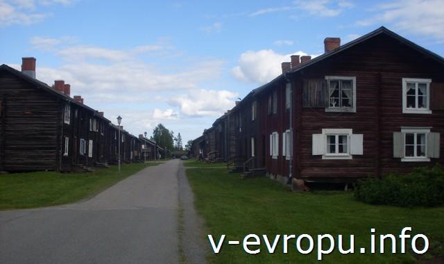 Шеллефтео на велосипеде. Частные  жилые дома.