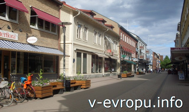 Улицы шведского городка Шеллефтео