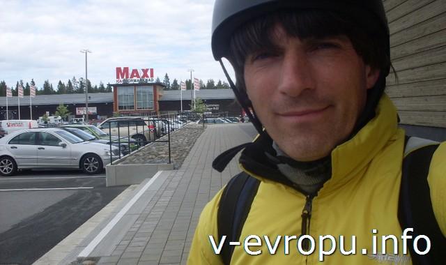 Николай-велопутешественник в Шеллефтео