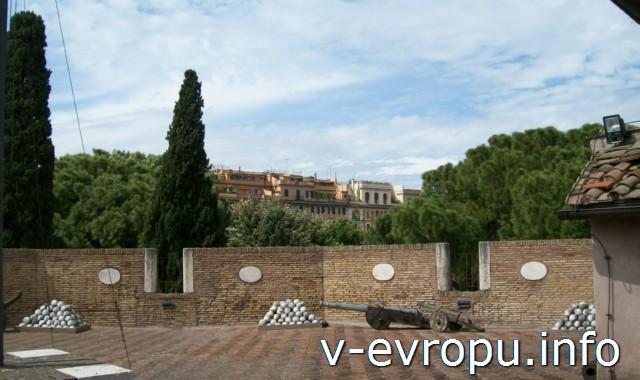 В замке Св.Ангела в Риме