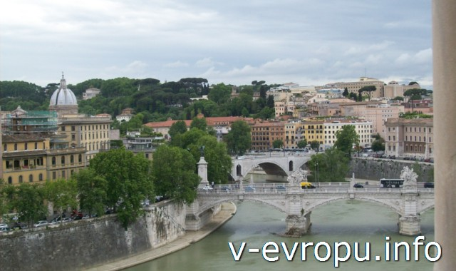 Рим. Италия. Фото с башни замка Сант Анджело
