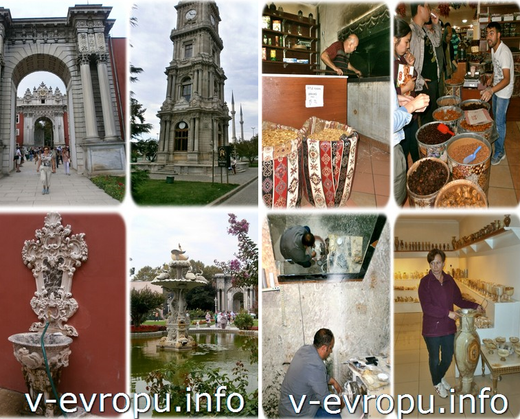 Башня в Стамбуле и городкой базар