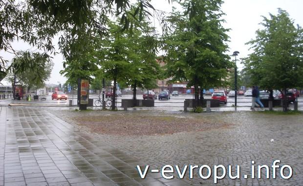 Улицы Сундсвалля. По Швеции на велосипеде