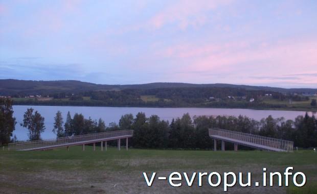 Смотровые площадки в местах отдыха водителей вблизи Хорнесанда в Швеции