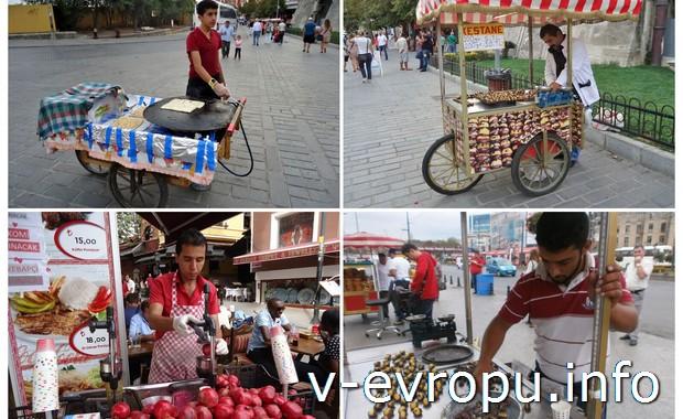 Торговцы на улицах Стамбула
