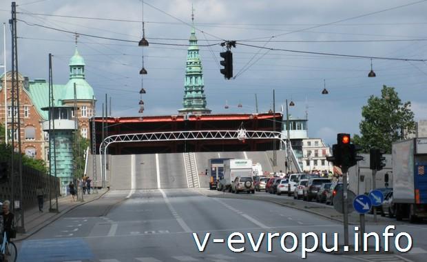 Копенгаген. Разведенный мост