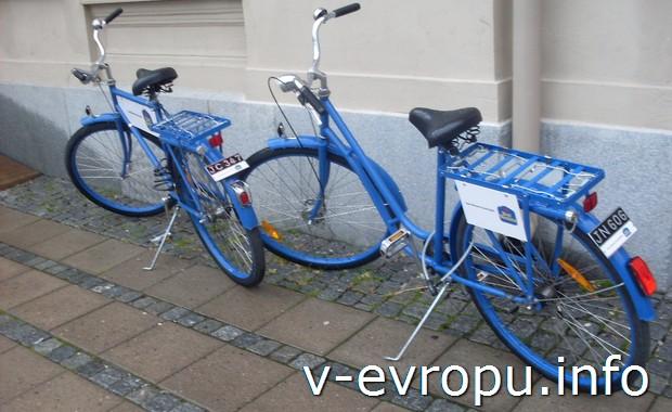 Велосипеды в Сундсвалле. Швеция