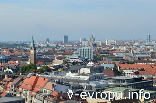 Панорамный вид на Мюнхен