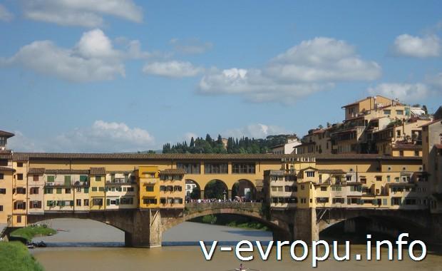 Старейший мост во Флоренции - понте Веккьо