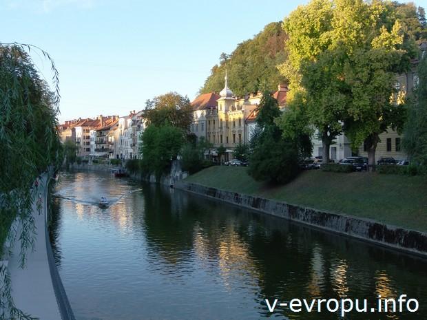 Уют и покой вдоль реки Любляницы в столице Словении Любляне
