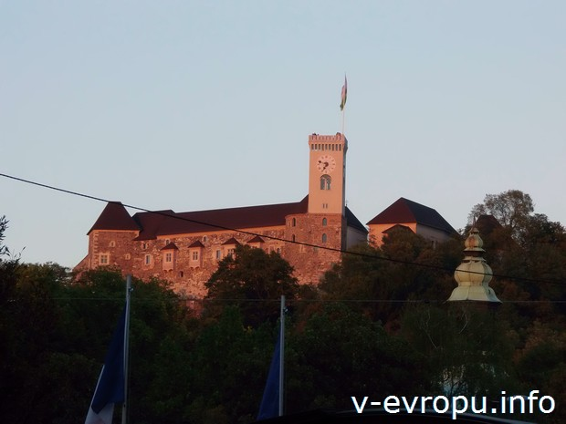 Люблянский замок на горе