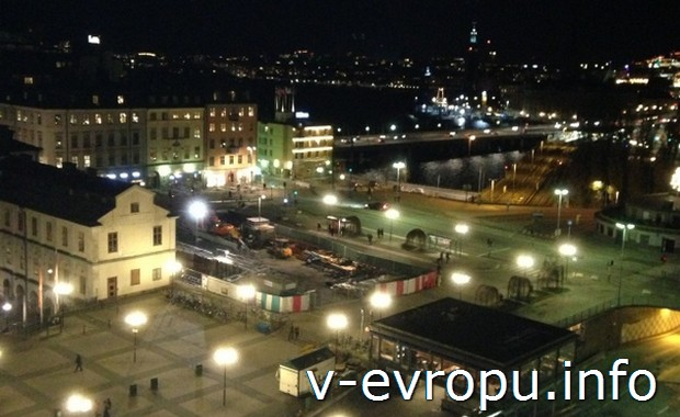 Вид на Стокгольм со смотровой площадки