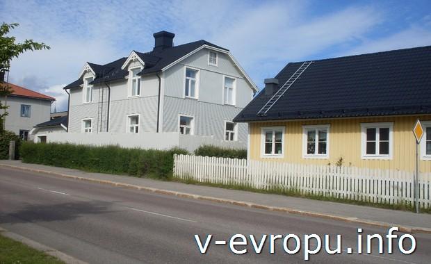 Жилые дома Худиксвалля. По Швеции на велосипеде