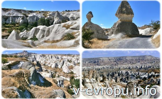 Прогулки по экскурсионным маршрутам в Каппадокии. Турция