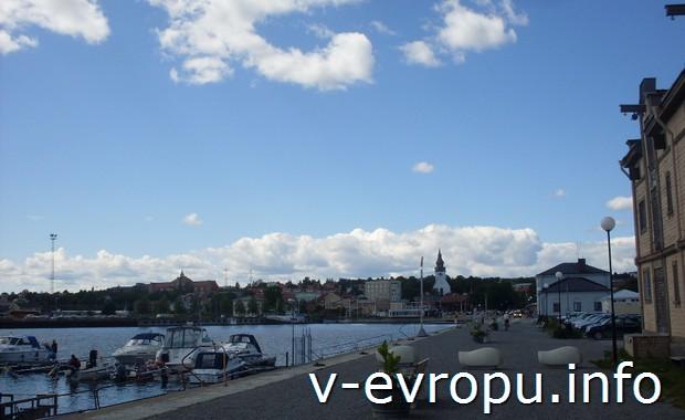 Набережная Hudiksvall