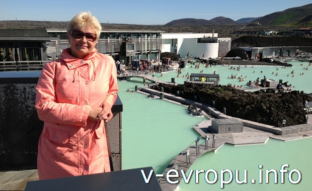 На исландском курорте в Голубой лагуне
