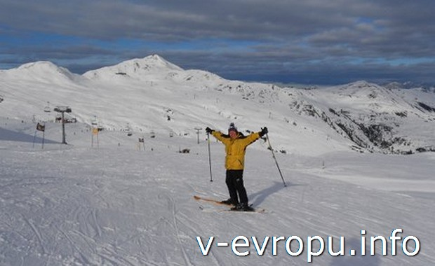Автор отчета Галина Н. на горнолыжном курорте в Австрийских Альпах