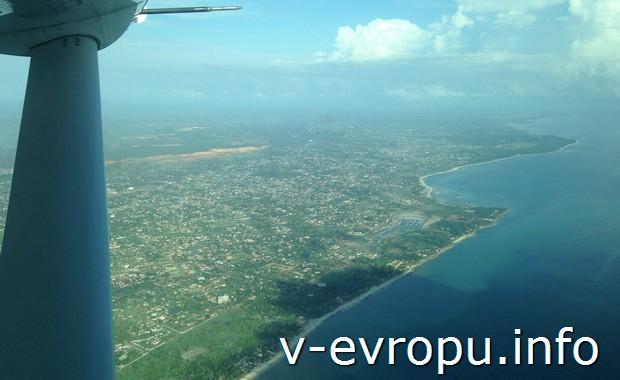 Подлетаем к Занзибару