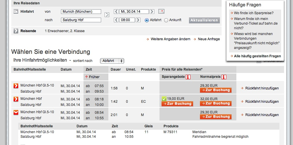 поезда до зальцбурга из мюнхена