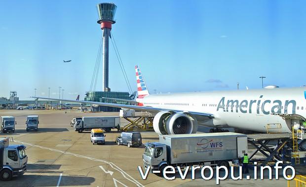 Боинг American Airlines. Может наш, может - нет, но мы летели таким же