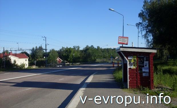 Автобусная остановка в Иггесунде (Швеция)
