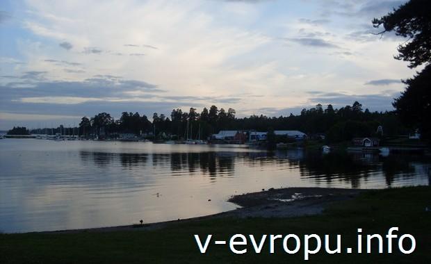 Берег кемпинга в Евле (Швеция)