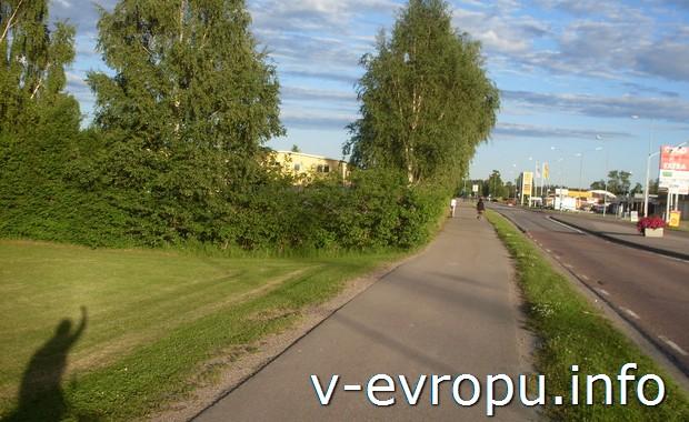 На выезде из Gavle (Швеция)