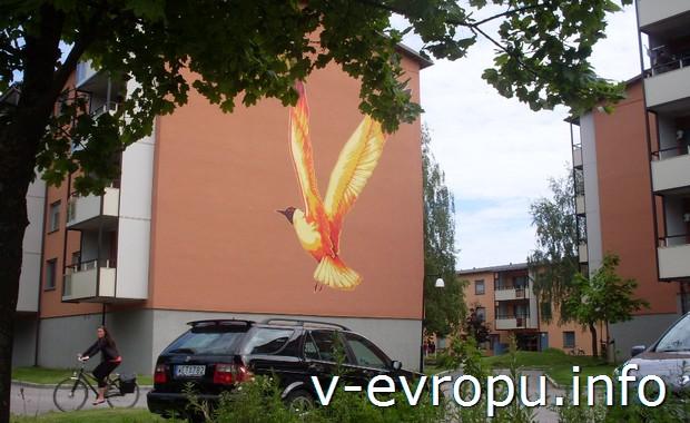 Граффити в спальных районах Евле