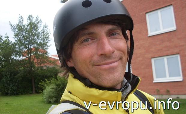 Николай-велопутешественник - победитель дикого шведского кабана!